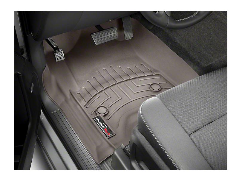 Weathertech DigitalFit Front Floor Liners - Cocoa (14-18 Sierra 1500 Double Cab, Crew Cab)