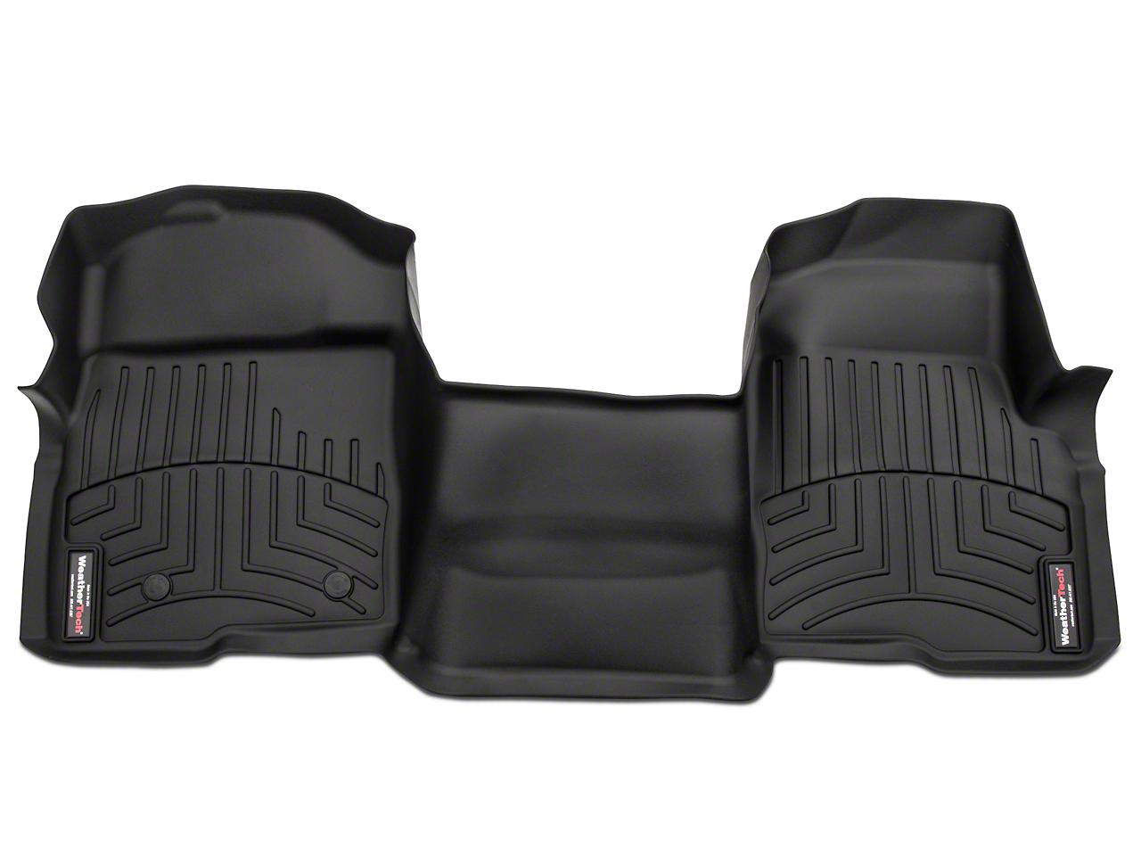 Weathertech DigitalFit Front Floor Mat - Over The Hump - Black (07-13 Sierra 1500)