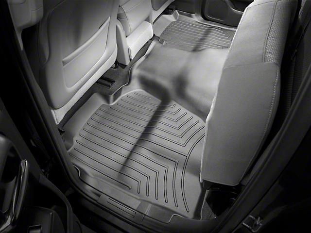 Weathertech DigitalFit Rear Floor Liner - Black (14-18 Sierra 1500 Double Cab, Crew Cab)