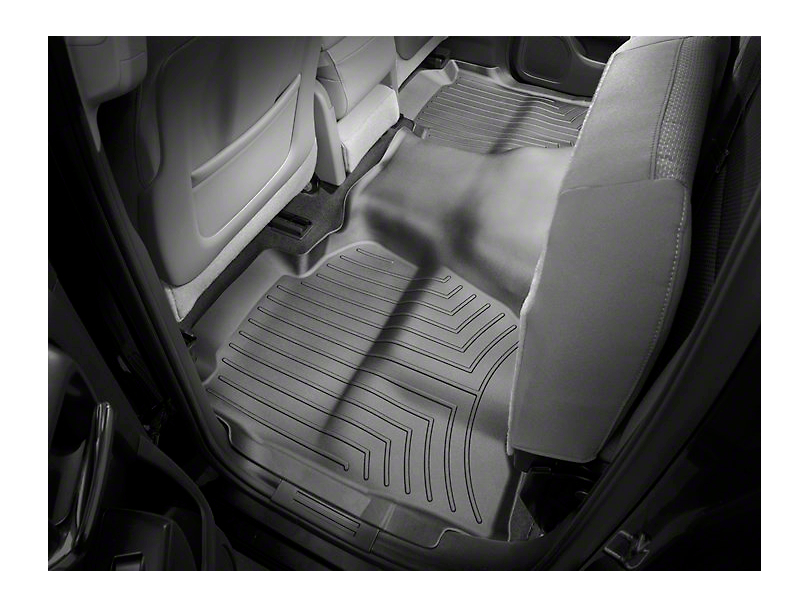 Weathertech DigitalFit Rear Floor Liner - Cocoa (14-18 Sierra 1500 Double Cab, Crew Cab)