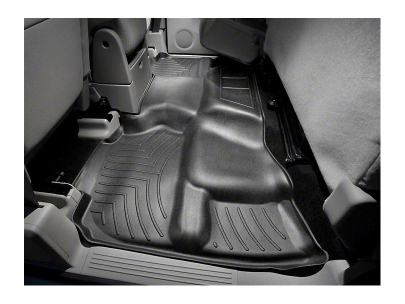 Weathertech DigitalFit Rear Floor Liner - Black (07-13 Sierra 1500 Extended Cab, Crew Cab, Excluding Hybrid)