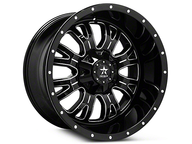 RBP 89R Assassin Gloss Black Machined 6-Lug Wheel - 20x10 (07-19 Sierra 1500)