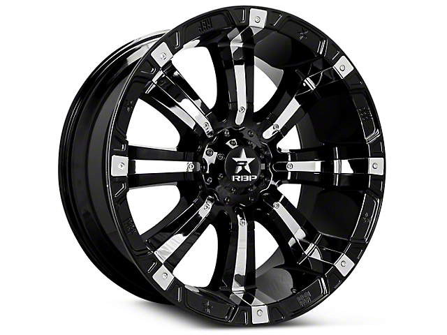 RBP 94R Black w/ Chrome Inserts 6-Lug Wheel - 17x9 (07-19 Sierra 1500)
