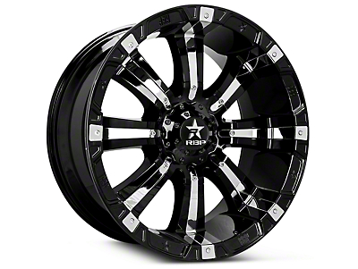 RBP 94R Black w/ Chrome Inserts 6-Lug Wheel - 17x9 (07-18 Sierra 1500)