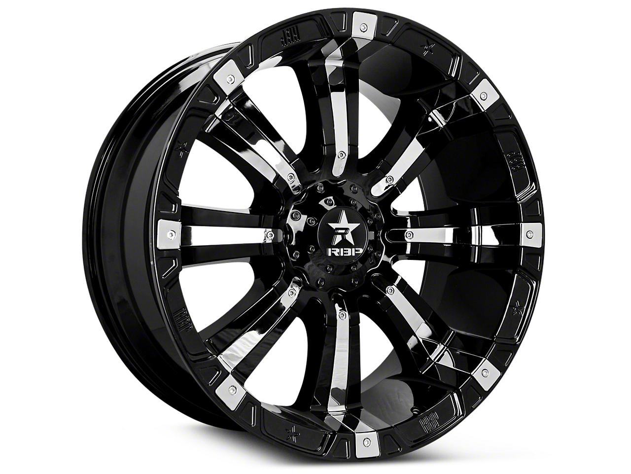 RBP 94R Black w/ Chrome Inserts 6-Lug Wheel - 17x9 (07-18 Sierra 1500)