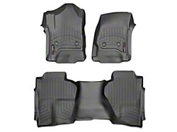 Weathertech DigitalFit Front & Rear Floor Liners - Black (14-18 Sierra 1500 Crew Cab w/o Floor Shifter)