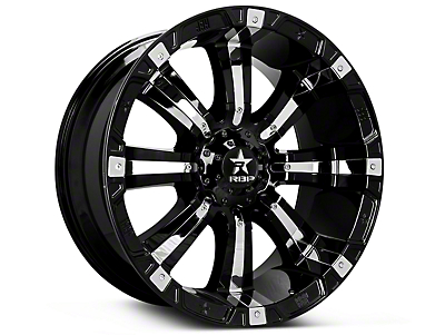 RBP 94R Black w/ Chrome Inserts 6-Lug Wheel - 18x9 (07-18 Sierra 1500)