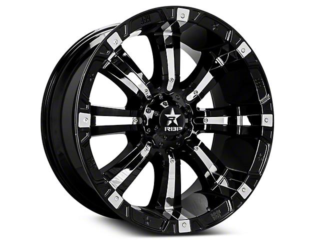 RBP 94R Black w/ Chrome Inserts 6-Lug Wheel; 20x9 (07-18 Sierra 1500)