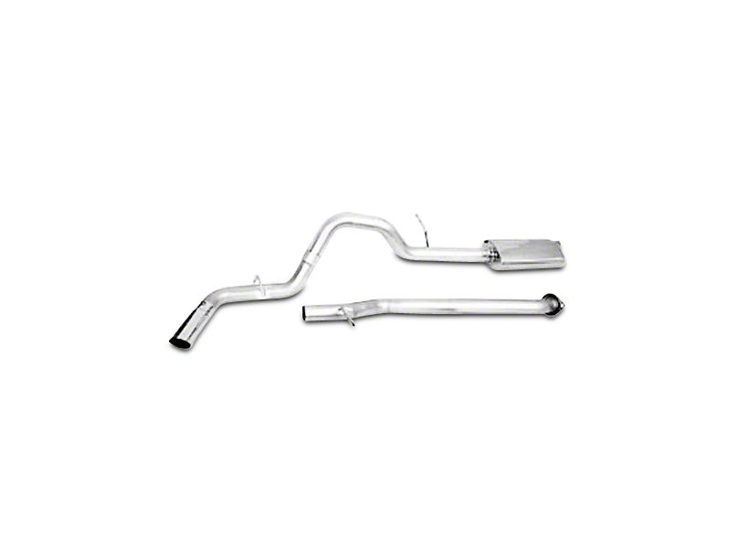 CGS Motorsports Aluminized Single Exhaust System - Side Exit (09-13 4.8L Sierra 1500)