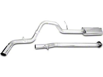 CGS Motorsports Stainless Single Exhaust System - Side Exit (2009 6.0L Sierra 1500, Excluding Hybrid)