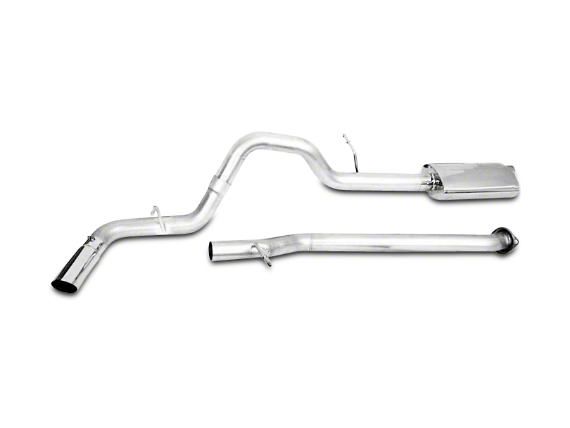 CGS Motorsports Stainless Single Exhaust System - Side Exit (14-18 4.3L Sierra 1500)
