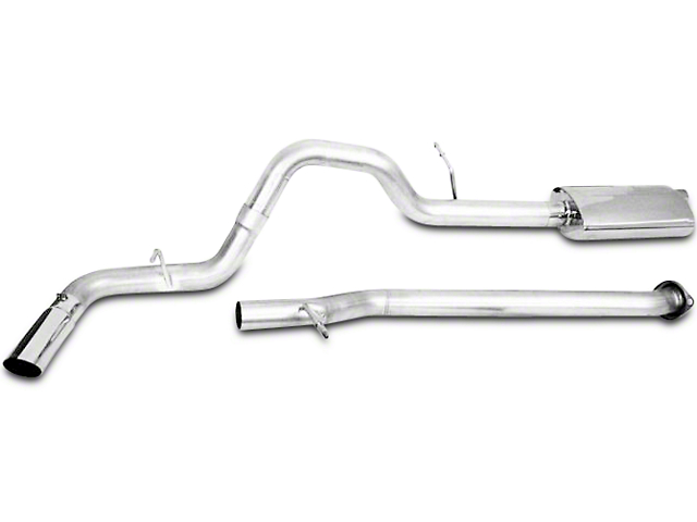 CGS Motorsports Stainless Single Exhaust System; Side Exit (14-18 5.3L Sierra 1500)