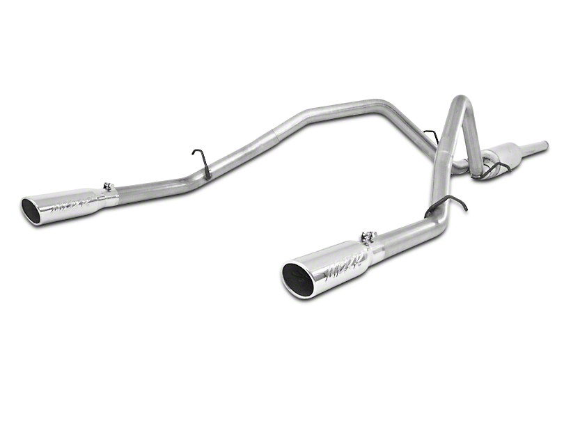 MBRP 2.5 in. Installer Series Dual Exhaust System - Rear Exit (09-13 4.8L Sierra 1500)
