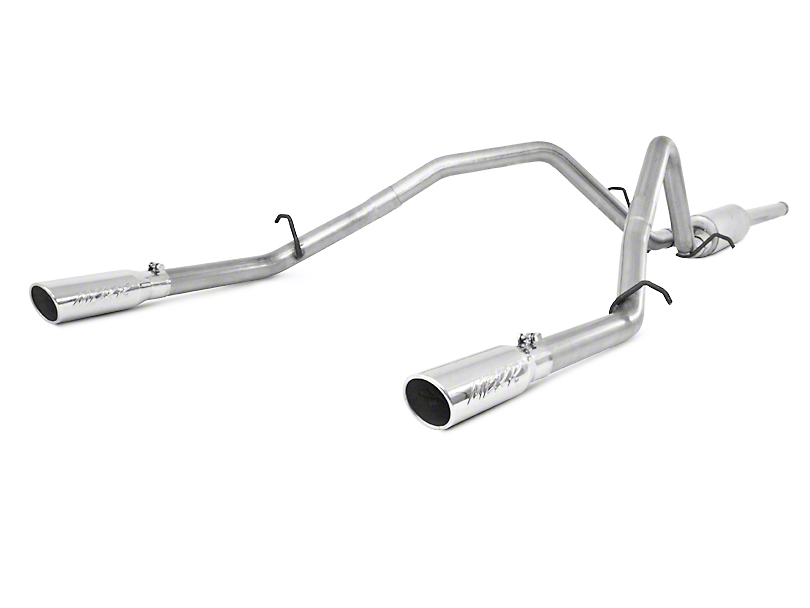 MBRP 2.5 in. Installer Series Dual Exhaust System - Rear Exit (2009 6.0L Sierra 1500, Excluding Hybrid)