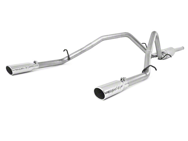 MBRP 2.50-Inch Installer Series Dual Exhaust System with Polished Tips; Rear Exit (2009 6.0L Sierra 1500, Excluding Hybrid)