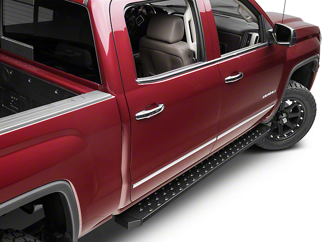Barricade Rattler Running Boards - Textured Black (14-18 Sierra 1500)