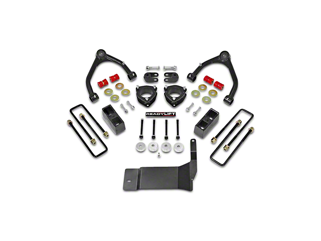 ReadyLIFT 4 in. Front / 1.75 in. Rear SST Lift Kit (14-18 4WD Sierra 1500, Excluding Denali)