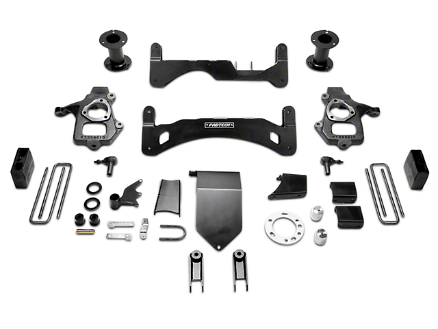 Fabtech 6-Inch MagneRide GEN II Basic Suspension Lift Kit (14-18 4WD Sierra 1500 Denali)