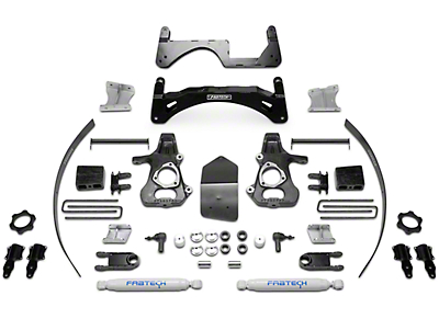 Fabtech 6 in. Basic Lift System w/ Shocks (14-18 2WD/4WD Sierra 1500 Double Cab, Crew Cab, Excluding Denali)