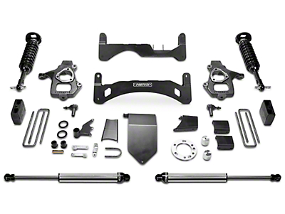 Fabtech 6 in. Gen II Performance Lift System w/ Dirt Logic 2.5 Coilovers & Shocks (14-18 2WD/4WD Sierra 1500 Double Cab, Crew Cab, Excluding Denali)