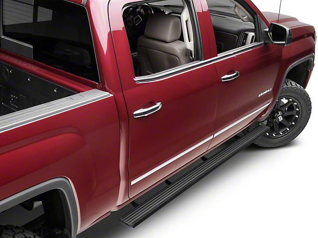 Barricade Aluminum Running Boards - Black (14-18 Sierra 1500 Double Cab, Crew Cab)