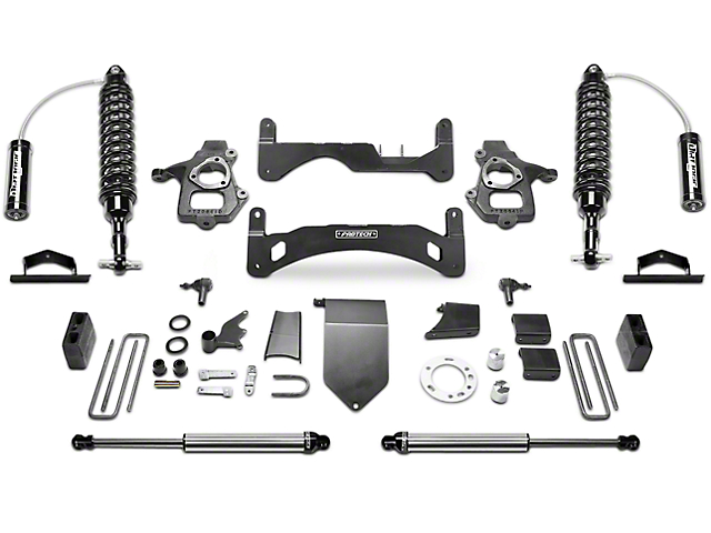 Fabtech 6 in. Gen II Performance Lift System w/ Dirt Logic 2.5 Reservoir Coil-Overs & Shocks (14-18 2WD/4WD Sierra 1500 Double Cab, Crew Cab, Excluding Denali)