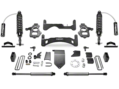 Fabtech 6 in. Gen II Performance Lift System w/ Dirt Logic 2.5 Reservoir Coilovers & Shocks (14-18 2WD/4WD Sierra 1500 Double Cab, Crew Cab, Excluding Denali)