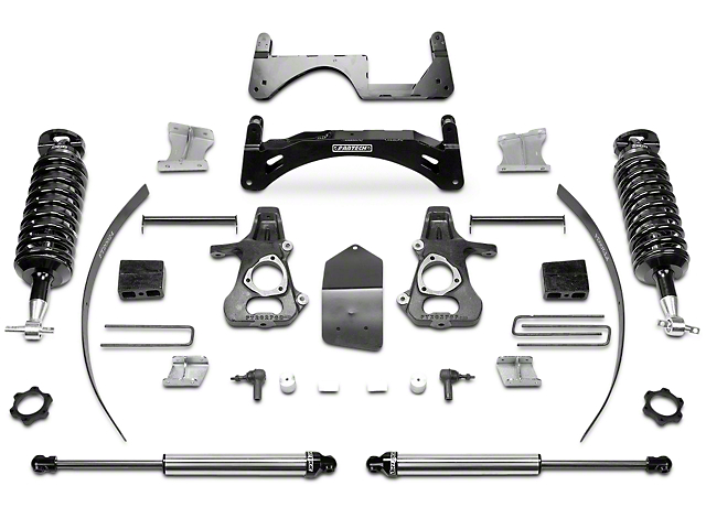 Fabtech 6-Inch Performance Suspension Lift Kit with Dirt Logic 4.0 Coil-Overs and Shocks (14-18 2WD/4WD Sierra 1500 Double Cab, Crew Cab, Excluding Denali)