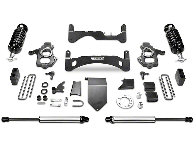 Fabtech 6-Inch GEN II Performance Suspension Lift Kit with Dirt Logic 4.0 Coil-Overs and Shocks (14-18 2WD/4WD Sierra 1500 Double Cab, Crew Cab, Excluding Denali)