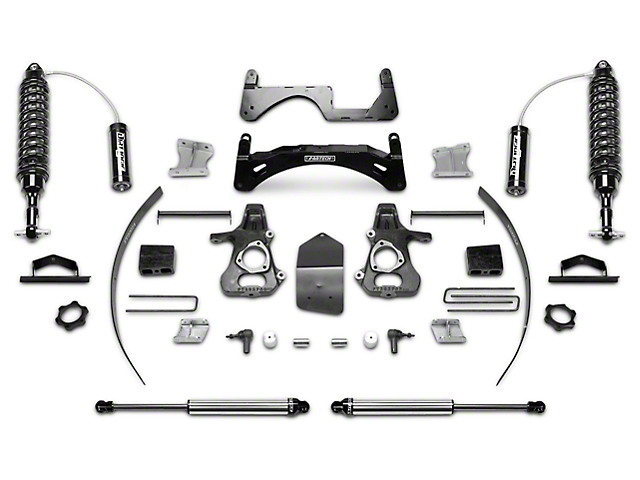 Fabtech 6-Inch Performance Suspension Lift Kit with Dirt Logic 2.5 Coil-Over Reservoirs and Shocks (14-18 2WD/4WD Sierra 1500 Double Cab, Crew Cab, Excluding Denali)