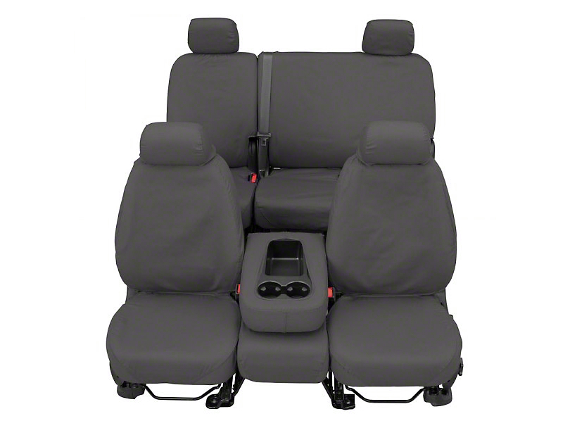 Covercraft SeatSaver Front Row Seat Covers - Polycotton Gray (07-18 Sierra 1500 w/ Bucket Seats)