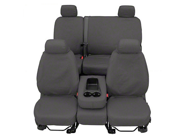 Covercraft Front Row SeatSaver Seat Covers - Polycotton Gray (07-18 Sierra 1500 w/ Bucket Seats)