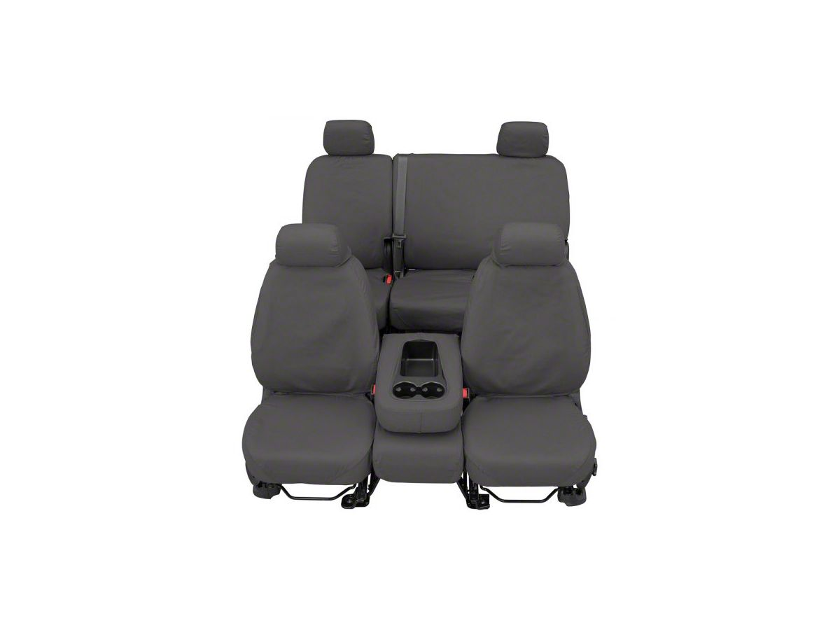Enjoyable Covercraft Seatsaver Front Row Seat Covers Polycotton Gray 07 18 Sierra 1500 W Bucket Seats Caraccident5 Cool Chair Designs And Ideas Caraccident5Info