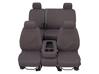 Covercraft Front Row SeatSaver Seat Covers - Polycotton Gray (07-18 Sierra 1500 w/ Bench Seat)