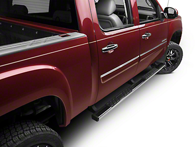 Barricade T4 Side Step Bars - Polished Stainless - Body Mount (07-13 Sierra 1500 Extended Cab, Crew Cab)