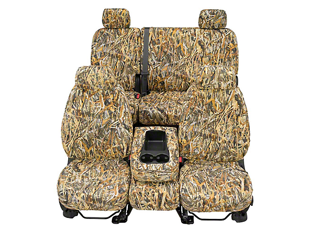 Covercraft Front Row SeatSaver Seat Covers; True Timber Flooded Timber (07-18 w/ Bench Seat)