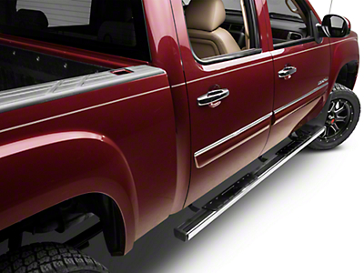 Barricade T4 Side Step Bars - Polished Stainless - Rocker Panel Mount (07-13 Sierra 1500 Extended Cab, Crew Cab)