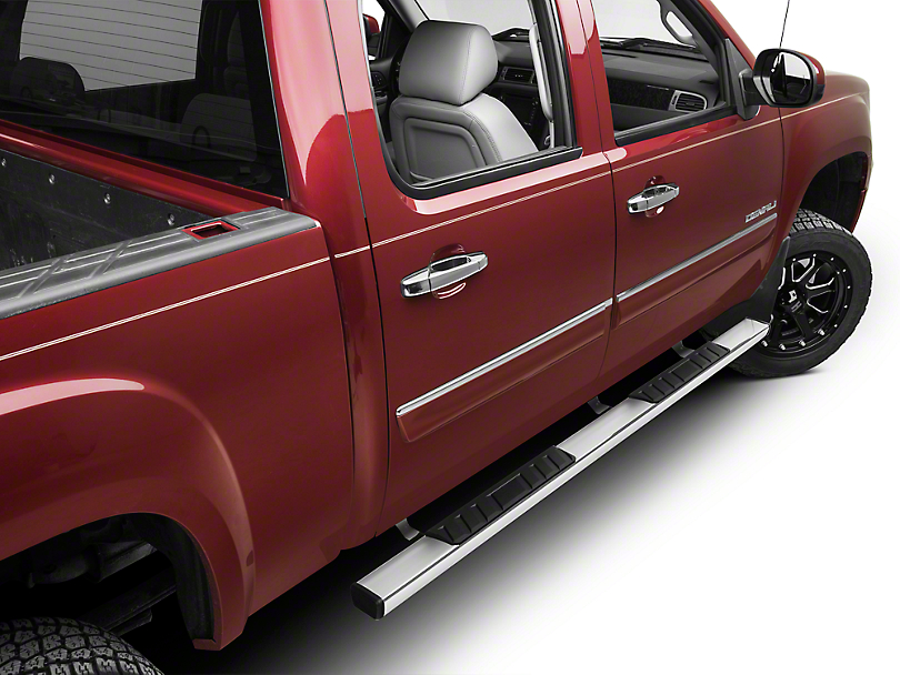 Barricade T4 Side Step Bars - Polished Stainless - Rocker Panel Mount (14-18 Sierra 1500 Double Cab, Crew Cab)