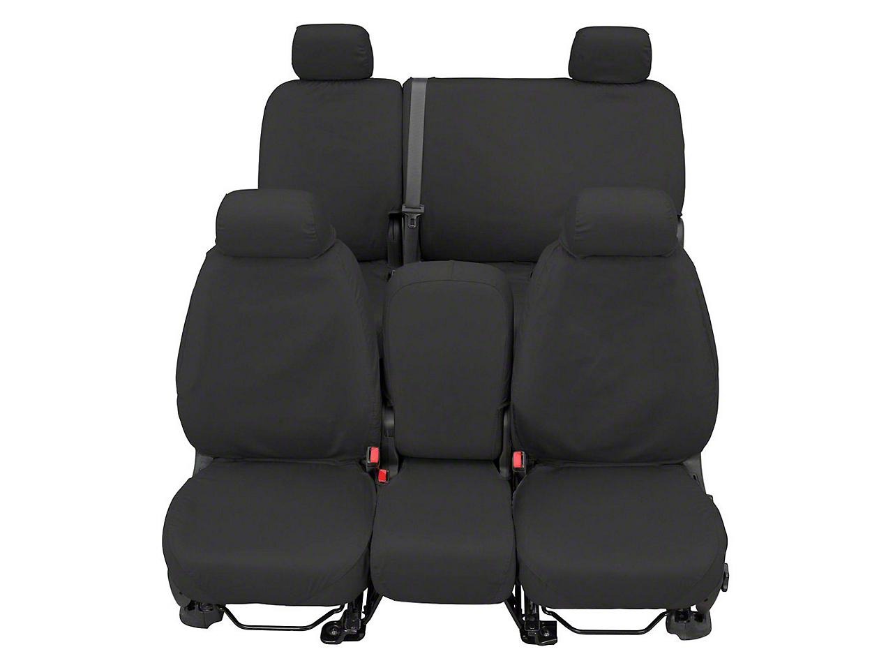 Covercraft Front Row SeatSaver Seat Covers - Waterproof Gray (07-18 Sierra 1500 w/ Bench Seat)