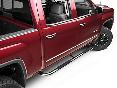 Barricade 3 in. Side Step Bars - Polished Stainless - Body Mount (14-18 Sierra 1500)