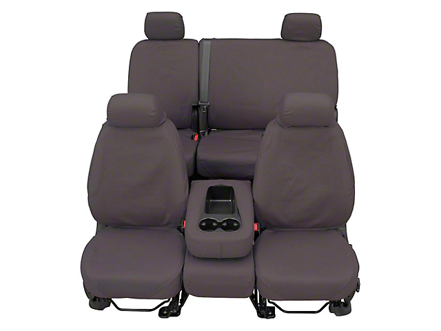 Covercraft SeatSaver Second Row Seat Cover - Polycotton Gray (07-13 Sierra 1500 Extended Cab, Crew Cab)