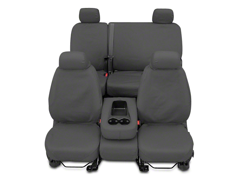 Covercraft Second Row SeatSaver Seat Cover - Polycotton Gray (14-18 Sierra 1500 Double Cab, Crew Cab)