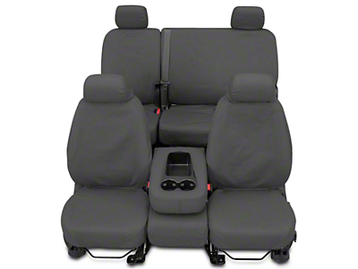 Covercraft SeatSaver Second Row Seat Cover - Polycotton Gray (14-18 Sierra 1500 Double Cab, Crew Cab)