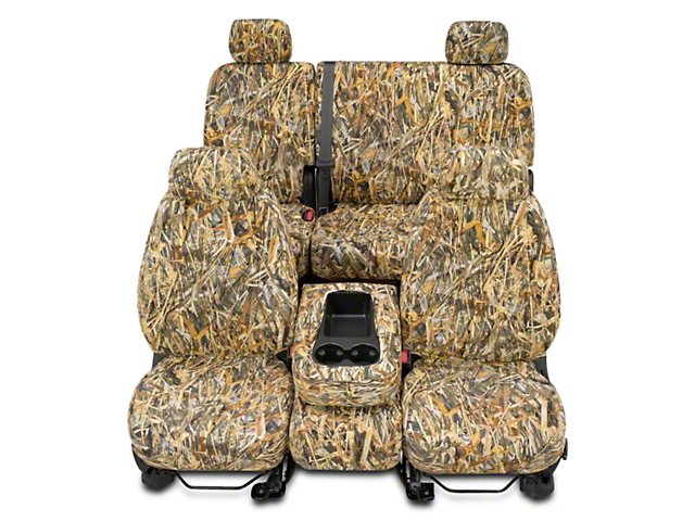 Covercraft Second Row SeatSaver Seat Cover; True Timber Flooded Timber (14-18 Sierra 1500 Double Cab, Crew Cab)