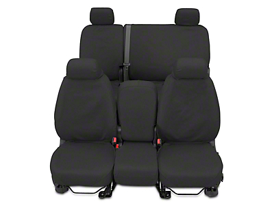 Covercraft Second Row SeatSaver Seat Cover - Waterproof Gray (07-13 Sierra 1500 Extended Cab, Crew Cab)