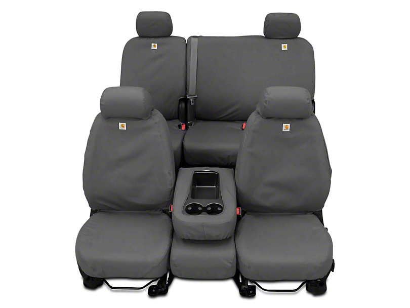 Covercraft SeatSaver Waterproof Second Row Seat Cover - Gray (14-18 Sierra 1500 Double Cab, Crew Cab)