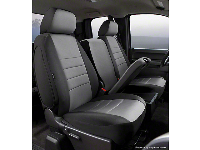 Fia Custom Fit Neoprene Front Seat Covers - Gray (07-13 Sierra 1500 w/ Bench Seat)