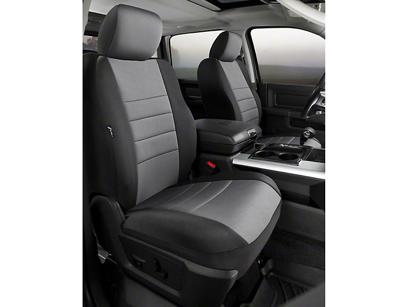 Fia Custom Fit Neoprene Front Seat Covers - Gray (07-13 Sierra 1500 w/ Bucket Seats)