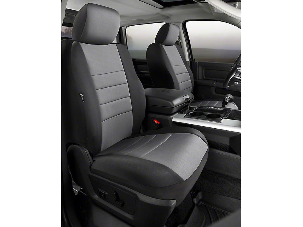 Fia Custom Fit Neoprene Front Seat Covers - Gray (07-13 Sierra 1500 w/ Bucket Seats)