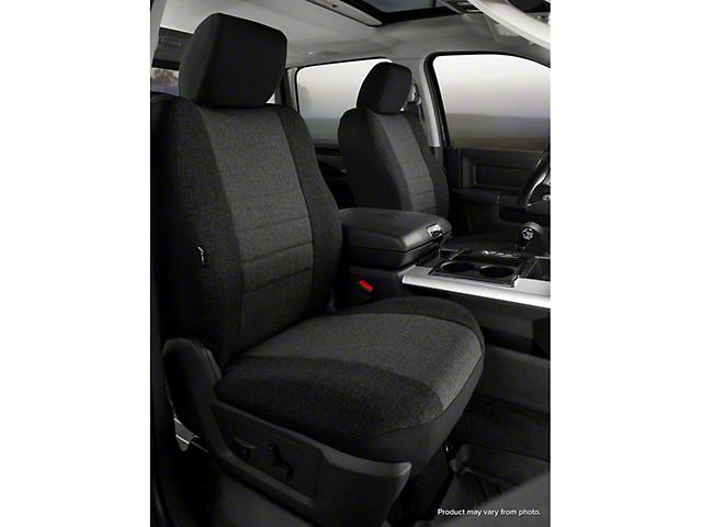 Fia Custom Fit Tweed Front Seat Covers - Charcoal (07-13 Sierra 1500 w/ Bucket Seats)
